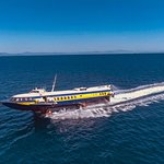Arrival of Fast Hydrofoil AEGEAN PRINCE to Rhodes from Fethiye
