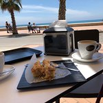 Coffee, cake and view