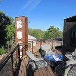 Bocce penthouse deck (photos shows about half its size)