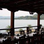 restaurant van het hotel; een pracht plek om te ontbijten en dineren