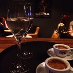 After dinner - bubbles and espresso