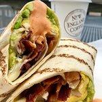 Bacon, Egg & Cheese Wrap with Sriracha Mayo