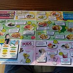 Extensive kids menu, June 2018.
