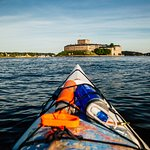 Vaxholm Fortress just by kayak!