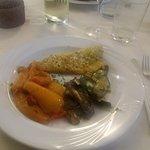 Filetto branzino e verdure