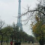 Eiffel Tower in the mist