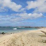 La plage municipale.