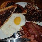 My burnt food at Denny's Swansea