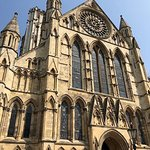 Front view of York Minster Cathedral in York, England