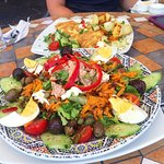 Salad Nicoise and Spanish omelet