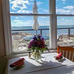 All of our tables have views of the ocean