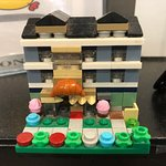 Fun little Lego display at checkout - love the croissant!