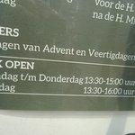 Jacobus de Meerdere; open ma-don 13.30-1500;za 13.30-1600
