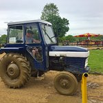 You actually get to drive a tractor!!!