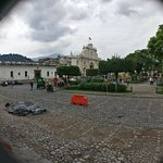 part of the plaza with la catedral