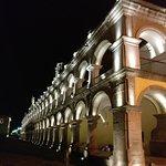 next to la plaza at night