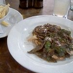 Chicken dish . I like mushrooms but too many and watery Madeira sauce