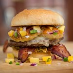 The Pineapple Applewood Smoked Bacon Burger