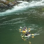 Confluence of the South Fork Smith River provide thrills for tandem kayaks