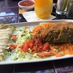 Chilis Relleno and Cheese Enchilada