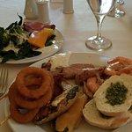 Lunch spread at LaMarche