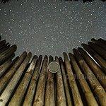 Beachview bamboo bungalow - 0pen-air bathroom under a million-star sky
