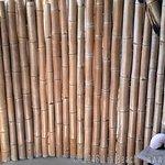 Beachview bamboo bungalow - Open-air bathroom