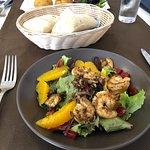 Prawn & orange salad
