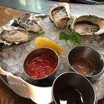 raw oysters, freshly shucked