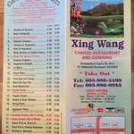 menu with phone #