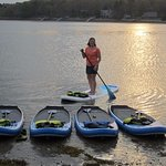 Learning to SUP with Theresa from Fitness Success!
