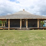 Andrews' Log House. Built in 1942 and moved here from the famous Waldron Ranch in 2008.