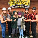 Posing with the lumberjacks after the show is free!