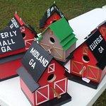 Bird houses by Doug and Linda Hardy