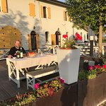 The terrace is a great place for sunset aperitivi