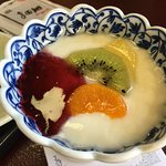 Japanese breakfast & fruit yogurt