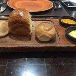 fresh baked bread platter