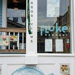 closeup entrance to Fluke