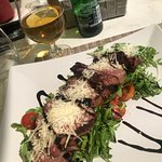 Steak salad,food is delicious but the only thing i didn't like about this place is that they don