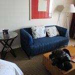Nice and spacious room with sofa & coffee table
