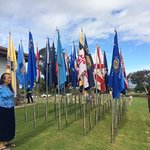 Flags prepared for Memorial Day 2018