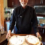 Chef Voigt with some pies..
