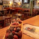 Tábua/Board: Presunto/alheira/morcela/linguiça; Ham/chichen sausage/blood sausage/fried chorizo