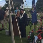 Maui Mayor Alan Arakawa leads the unveiling ceremony of the Vietnam War Memorial, 2018.