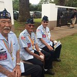 Hawaiian veterans pay tribute during the 2018 Memorial Day Service at Makawao Veterans Cemetery