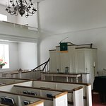 Interior of the Old Stone Church.
