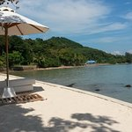 The man-made beach that cafe customers can use