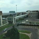 Walkway to airport terminal