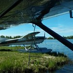 Nearby floatplane before our takeoff