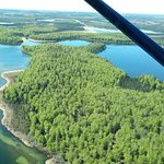Wooded areas and inlets